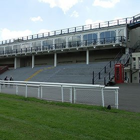 Decorative Victorian stand at Ludlow Racecourse.