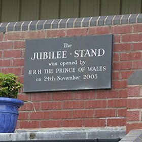 Comemmorative plaque at Ludlow racecourse