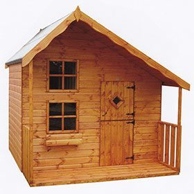 wooden play house with stable door