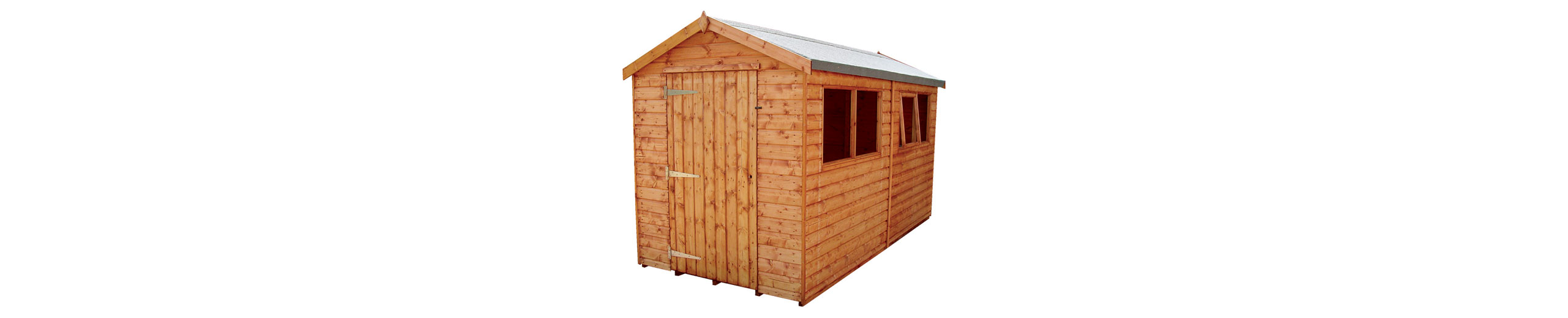 Small wooden garden shed