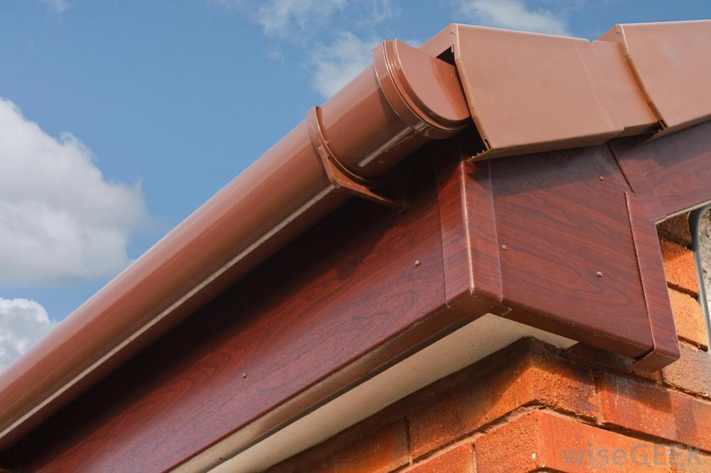Facia board and guttering