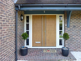residential house with a double door made by Solidor